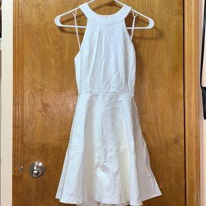 NWOT LULUS WHITE SKATER DRESS